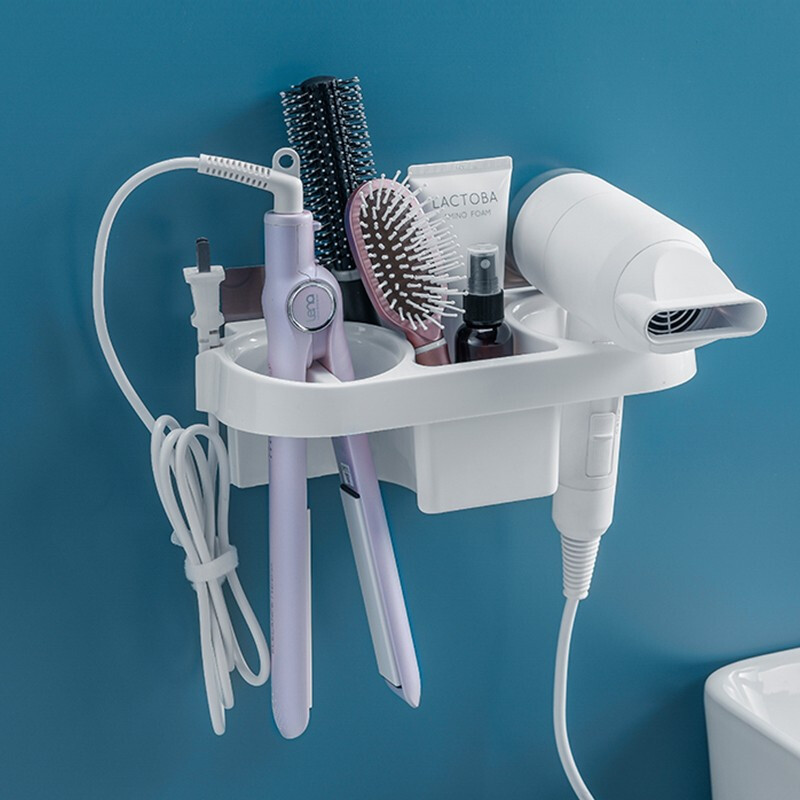 Iron-Shelf Hair-Dryer-Holder Storage-Rack Curling Bathroom-Accessories-Set Hands Home