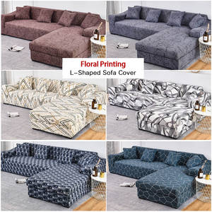 Couch-Cover Sofa Chaise Stretch L-Shaped-Corner Living-Room Elastic 2pieces-If for Longue