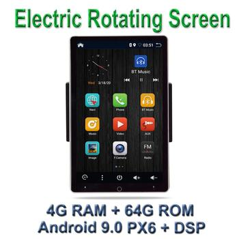 amprime 1din android 7 car multimedia quad core 6 0 touch car styling autoradio gps wifi bt usb fm rear view camera stero audio PX6 DSP Car Multimedia Player 10.1 Android 9.0 with 1DIN 90 Degree Rotatable Screen BT GPS WiFi  Stereo Radio RDS/FM/AM
