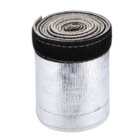 Silver Car Metallic Heat Shield Sleeve Cover Wrap Loom Tube Strip Insulated Part Interior Accessories Protector|Exhaust  Assembly| |  -