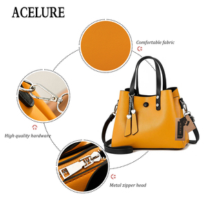 Image 3 - ACELURE Luxury Handbags Women Bags Designer New Fashion PU Leather Women Bag Woman Tote Bags for Women Casual Ladies Hand Bags