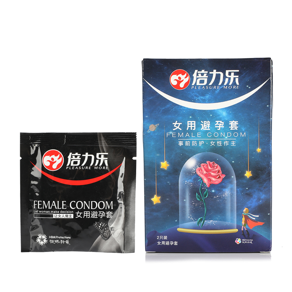 2PCS/Box Vaginal Female Condom Sexy Latex Dots Pleasure <font><b>Natural</b></font> Rubber Condone Women Safety Contraception Sex Product For Couple image