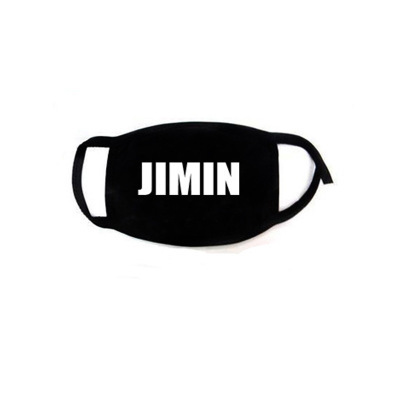 Hip Hop Mouth Face Mask Dustproof  Kpop V Suga Jimin Name Logo  Bangtan Boys Love Yourself Album Black Masks Fans Gift