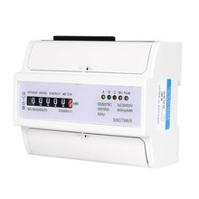 SINOTIMER DDS578C Three Phase 7P Analog Electronic Energy Counter Mechanical KWH Meter AC 380V 5-100A DIN Rail Mounting