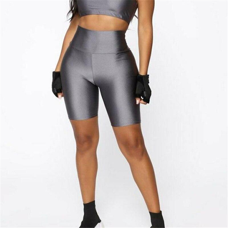 High Waist Sport Shorts Women Sports Fitness Shorts Elastic Running Gym Short Workout Beach Wear Outdoor Shorts