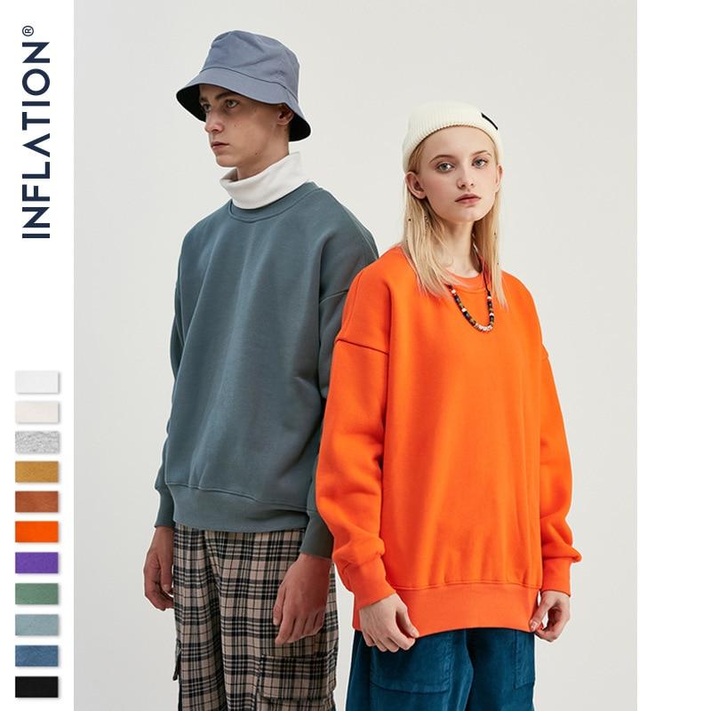 INFLATION  2016 Hot Mens Hip Hop Pure Sweatshirts Suit Tracksuit Men Street twear Winter Pullover Male Streetwear