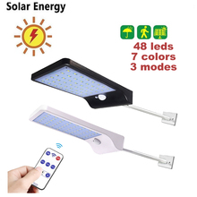 remote 48/36 led Solar powered Power Wall Light Outdoor Indoor Waterproof Energy Saving Street Yard Path Home patio