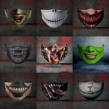 Masks Funny Horror Venom Masquerade Cosplay Halloween Gothic New Half-Face-Dust-Proof-Mask