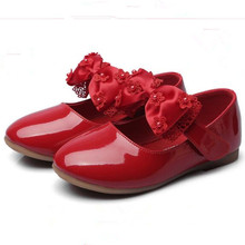baby girls Shoes Kids wedding party shoes little girls patent leather shoes flower princess Shoes For Dance Red White Black