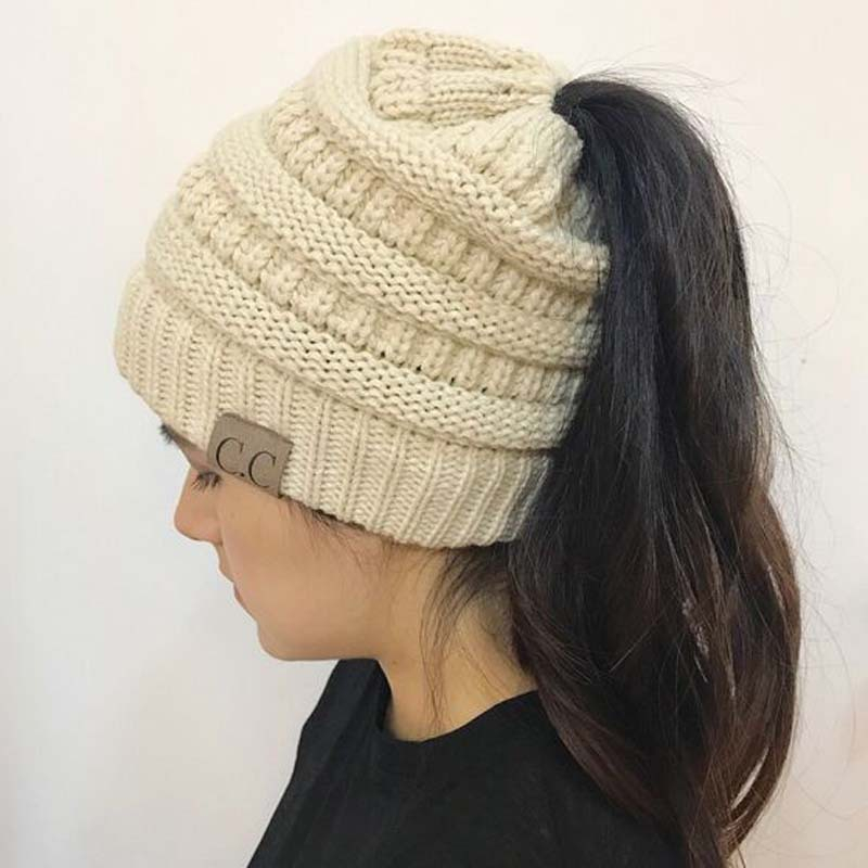 Ponytail Beanie Fall Glacier Winter Fall Hat Child Messy Bun Hat Acrylic Yarn Ponytail Hat Winter Hat Messy Bun Beanie with Bow