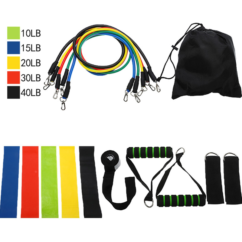 Resistance Bands Set Expander Home Gyms Workout Pull Rope Tubes Rubber Band Training Physical Yoga Exercise Fitness Tool