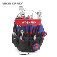 WORKPRO 5 Gallon Bucket Tool Organizer Boss Bag with 51 Pockets Fits to 3.5-5 (Tools Excluded)