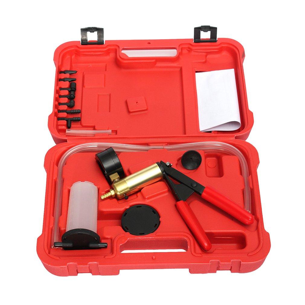 Professional Manual Design Car Vacuum Pump Brake Oil Tester Set Durable Brake Fluid Bleeder Oil Change Vacuum Pistol Tools