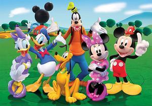 Image 3 - PHOTURT Mickey Minnie Mouse fotoğraf Backdrop bebek duş doğum günü partisi arka plan ördek köpek çim vinil fotoğraf stüdyoları sahne