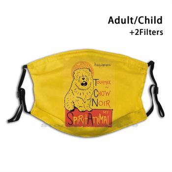Cute Fluffy Chowchow Art Reusable Mouth Face Mask With Filters Kids Chow Chow Chow Chow Dog Chow Chow Dog Chow Puppy Chow Chow