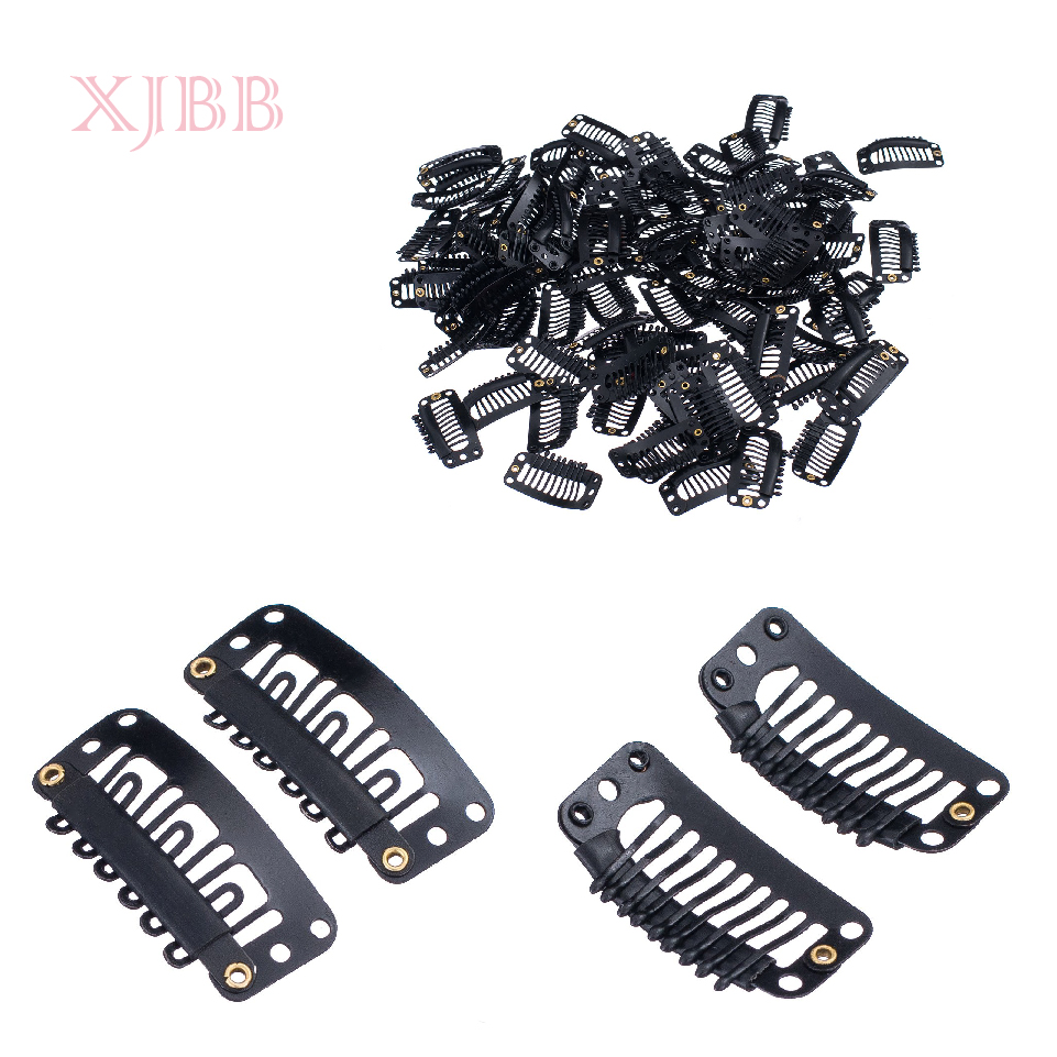 Metal Snap Clips For Hair Extensions Middle U Brown Snap Hair Clip For Wig Hair Extension 30Pcs/Lot
