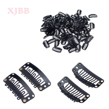 Metal Snap Clips for Hair Extensions Middle U Brown Snap Hair Clip For Wig Hair Extension 30Pcs/Lot wholesale 1000pcs lot 24mm u shaped tip hair extension clip wigs hair snap metal clip for clip in human hair extensions