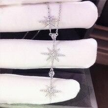 925 Sterling Silver Necklace Bijoux Femme Chain Women Joyas Collares Mujer Naszyjnik Jewelry Pendant
