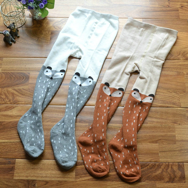 Cartoon Cute Baby Kids Toddlers Girls Knee High Socks Tights Leg Warmer Stockings Fox Animal Cotton Long Socks Fashion