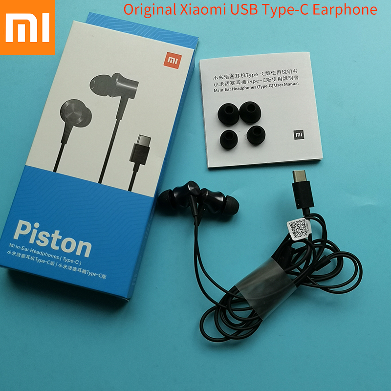 Original Xiaomi USB Type C fresh youth version In-Ear Earphone Wire Control with Mic for MI 9 9t 8 8SE 6X 6 Mix 2 2S 3 image