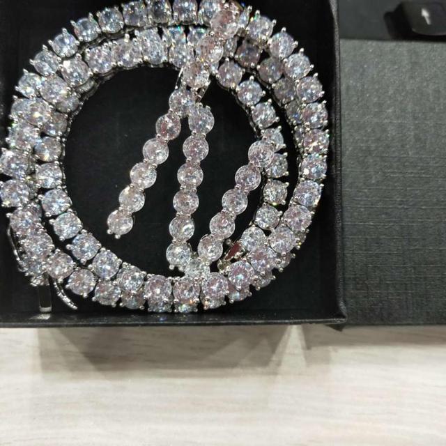 A-Z 5mm Tennis Chain Zircon Tennis Letters Necklaces & Pendant For Men/Women Gold Silver Color Fashion Hip Hop Jewelry