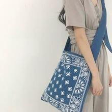 Винтаж Национальный стиль Цветочный принт сумка Для женщин bolsa