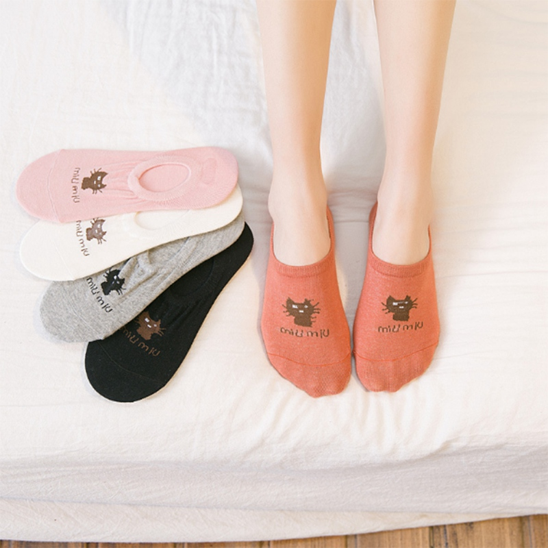 Cartoon Animal Cute Cotton Women Socks Invisible Boat Socks Candy PopSocket Casual Short Ankle Low Cut Socks PD0126