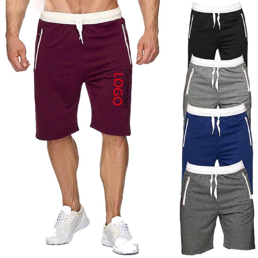 OIMG Mens Casual Shorts Fitness Joggers Fashion Pockets Sweatpants Print DIY Custom Logo Text Image Short Pant Tracksuit