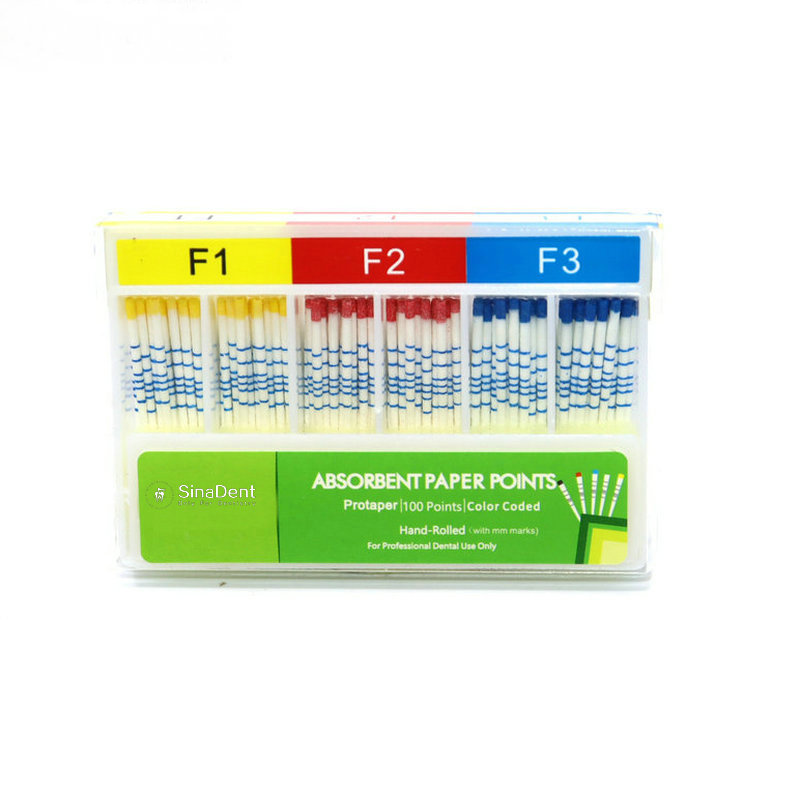 1Pack Dental Absorbent Paper Points with Length mm marked F1 F2 F3 04 06 Taper Root Canal Dental Mat