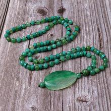 Модные богемные ювелирные изделия зеленые полудрагоценные камни