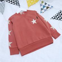 Criança meninos sweatshirts outono inverno pulôver crianças moda camisola do bebê menina de algodão estrela superior velo mangas compridas hoodies