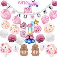 Decoración Para fiesta de primer cumpleaños de bebé niña, 1 año, primer cumpleaños de niña y niño, decoración para fiesta de bienvenida de bebé, recuerdo para fiesta de Bautismo