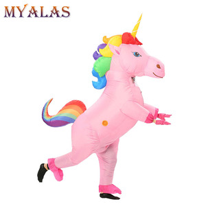 Image 5 - Unicorn Inflatable Costumes For Adult Women Men Pegasus Halloween Horse Pony Carnival Teen Cosplay Party Full Body Outfit Suit
