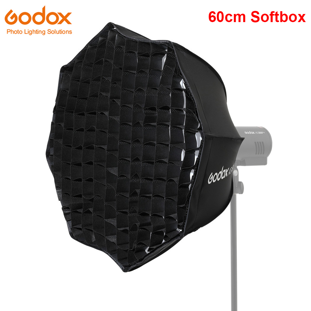 Godox AD-S60S 60cm Silver Deep Parabolic Softbox with Honeycomb Grid Godox Mount for AD300Pro ML60 LED Video Light
