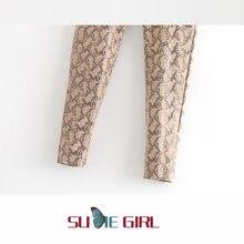 Осенние новые женские облегающие леггинсы sudie girl со змеиным