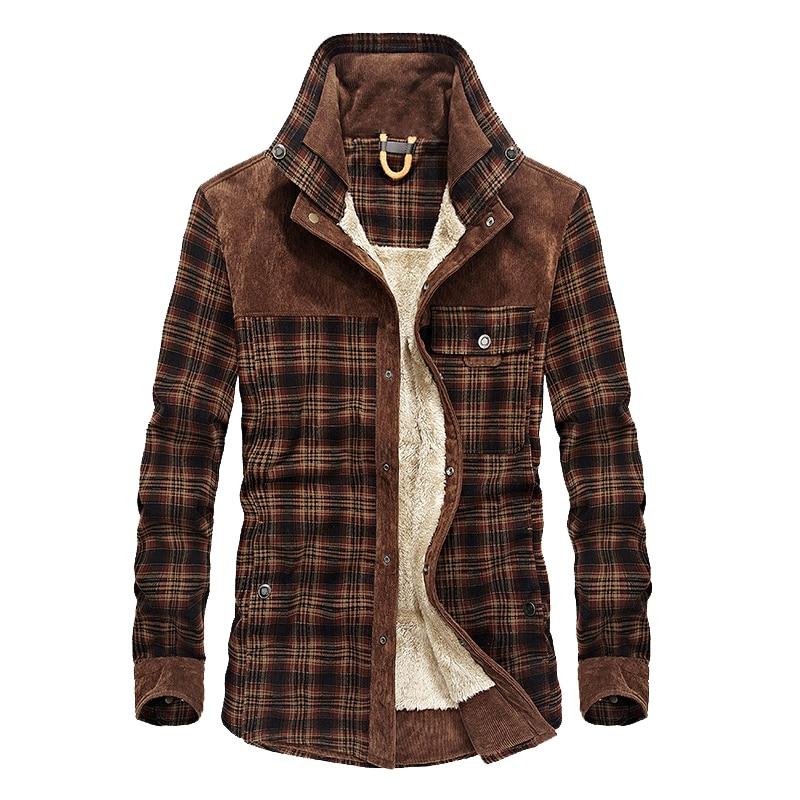 Mountainskin Men's Warm Jacket Fleece Thick Army  Coat Autumn Winter Jacket Men Slim Fit Clothing Mens Brand Clothing SA831 3