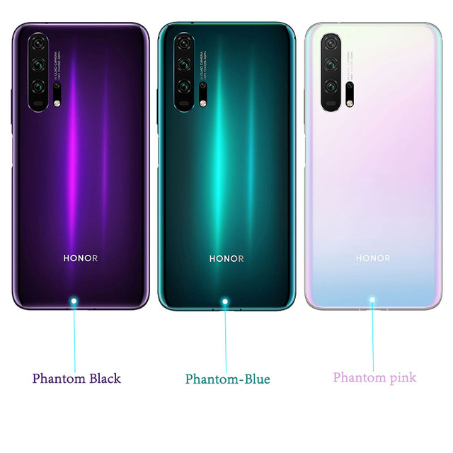 Global Version Honor 20 Pro Smartphone 8GB 256GB Kirin 980 Octa Core 48MP Four Camera 6.26'' Cell Phone 4000mAh Google Play NFC 4
