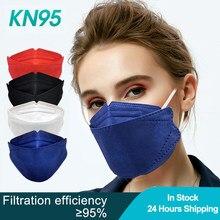 20-200 Uds adulto Rosa peces FFP2 Mascarillas máscara de tejido KN95 respirador protectora máscara de boca KN95 máscara a prueba de polvo negro
