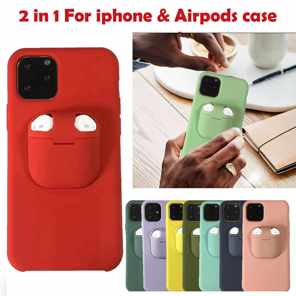 2 In 1 Wireless Headset Set Protection For Iphone 11 11 Pro 11 Pro Max For Airpods Shock Proof Tpu Pc Phone Back Cover Case Aliexpress