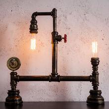 Промышленный Ретро стиль индивидуальная труба лампа бар кафе
