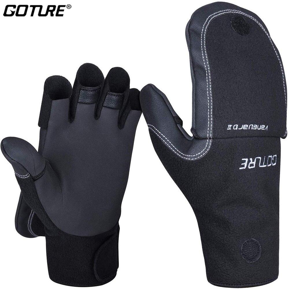 Goture VANGUARD Ⅱ Winter Fishing Gloves M L XL Waterproof Neoprene Polar Fleece Glove Durable Anti Slip Mittens for Fishing Fishing Gloves     - title=