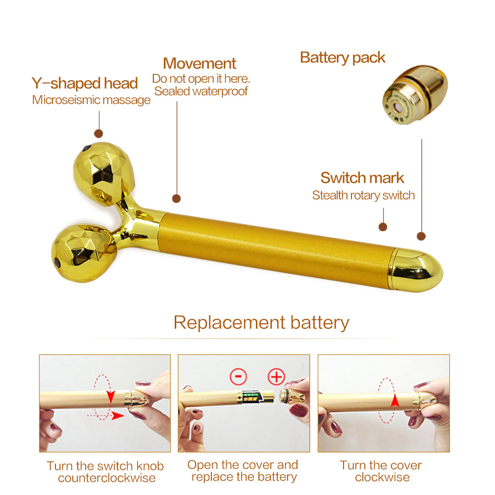 3 in 1 Facial Energy Massage Roller 2