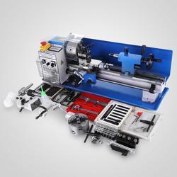 550W Mini tour à métaux 7x14 pouces pour tour à paillasse en métal précision tour parallèle vitesse Variable perçage numérique