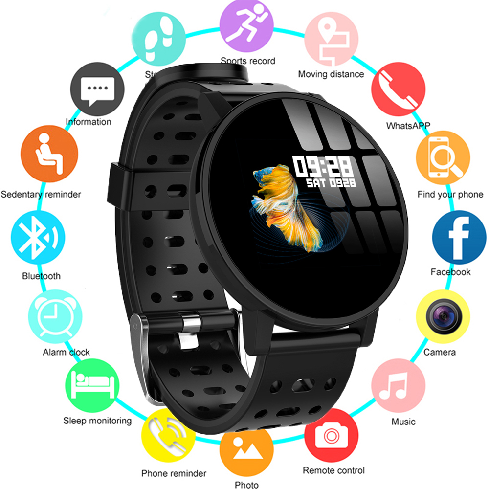 Fashion T3 IOS Android Smart Watches Men Women HR Blood Oxygen Blood Pressure IP67 Waterproof Activity Fitness Tracker PK V11 in Digital Watches from Watches