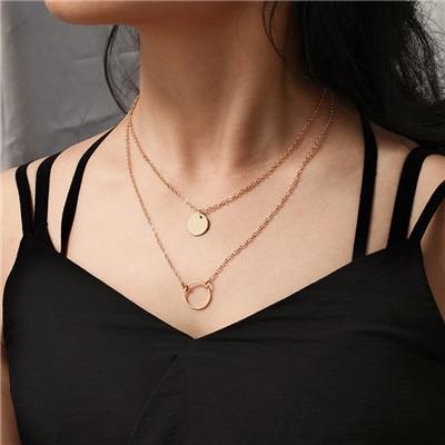 22 стиля, богемное ожерелье для женщин, Ретро стиль, золотая, серебряная цепочка, длинная луна, массивное ожерелье, подвеска, богемное ювелирное изделие, подарок девушке - Окраска металла: 34gold