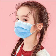 10Pcs Einweg Vertikale Falten vlies Maske Staub-proof Antibakterielle Einmal Kind-spezifische Maske PM 2,5 atmen Kind Maske