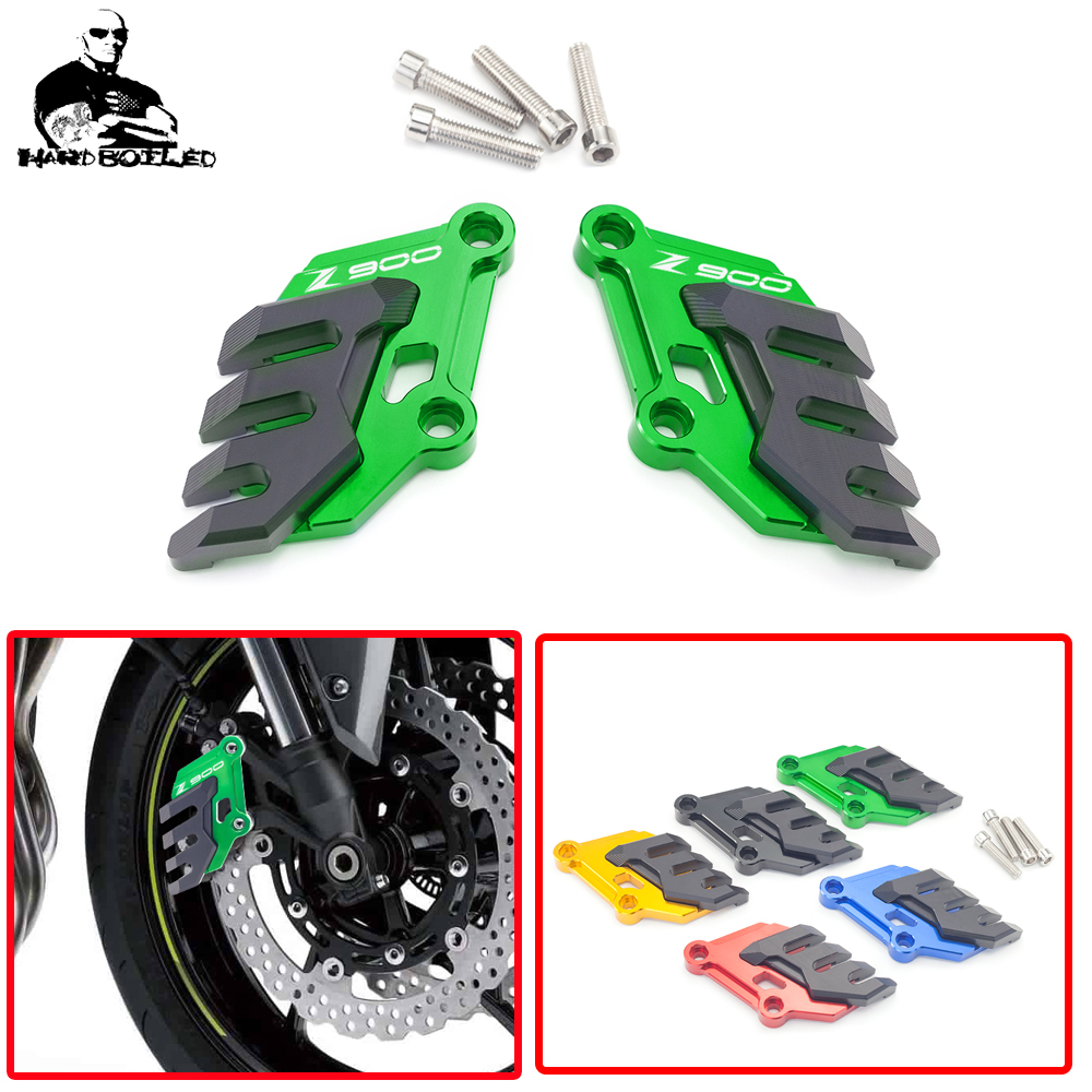 CNC Motorcycle Front Brake Caliper Cover Guard Protector Protect For <font><b>Kawasaki</b></font> <font><b>Z</b></font> <font><b>900</b></font> Z900 <font><b>2017</b></font> 2018 2019 2020 Brake Disc Caliper image