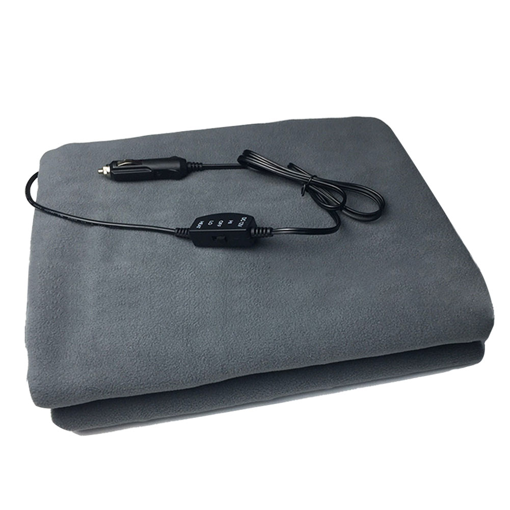 12V Car Heated Blanket Adjustable Safety Keep Warm Foldable Camping Travel