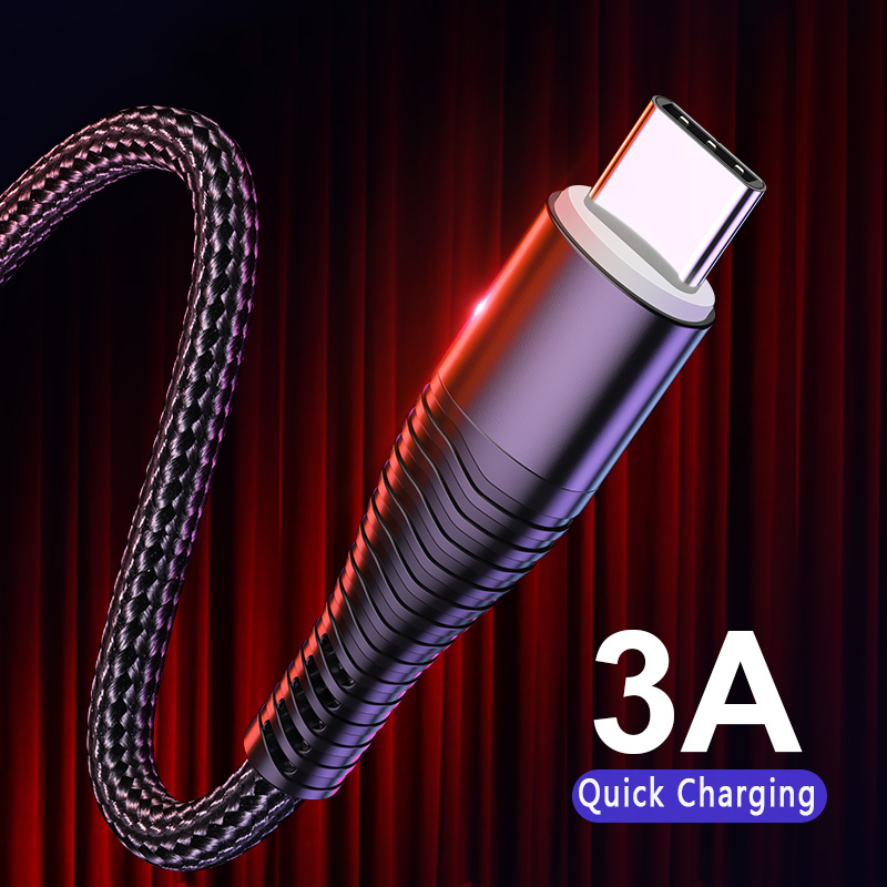 Type C USB Cable For Samsung Xiaomi Huawei  USB-C Charger Type-C USB Cables Data Cord Sync Fast Charging Phone Cable USB C Wire