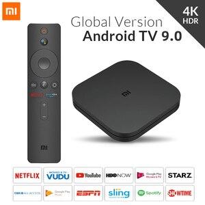 Оригинальный Глобальный ТВ-бокс Xiaomi S 4K Ultra HD Android TV 2 Гб RAM 8 Гб ROM Smart TV телеприставка 4K WiFi XioMi Mi Box 4 медиаплеер